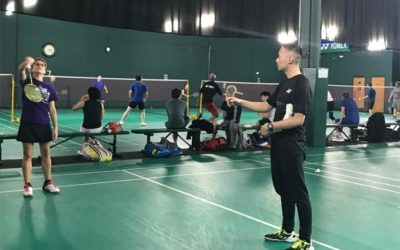 'Happiness' is a good game of Badminton!
