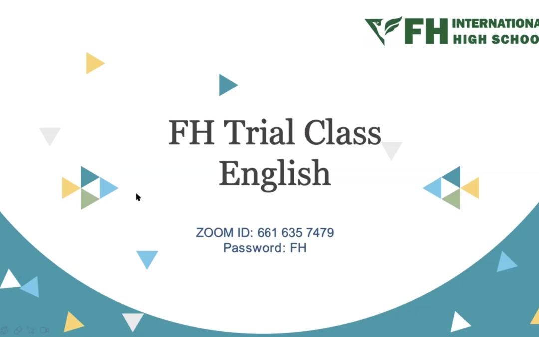 Free Trial English Class (ENG4U)